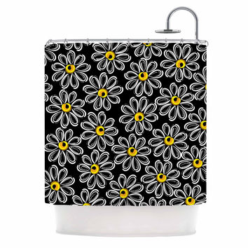 "Maria Bazarova ""Chamomile "" Yellow Floral Shower Curtain"