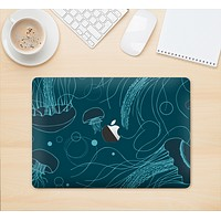 "The Dark Vector Teal Jelly Fish Skin Kit for the 12"" Apple MacBook"