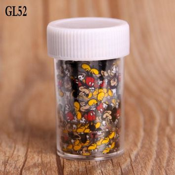 1 Roll Mickey Mouse Nail Art Transfer Foils Sticker Beauty Free Adhesive Nail Polish Wrap Nail Tips Decorations Accessories
