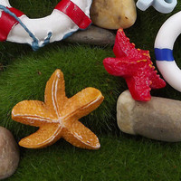 Starfish Miniatures Fairy Garden Micro Landscapes Resin Crafts Accessories HU