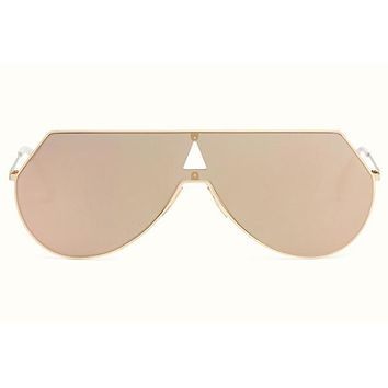 Fendi -  Eyeline 0193/S Pink Gold Metal Sunglasses