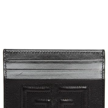 Givenchy Emblem Leather Card Case | Nordstrom