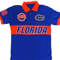 University of Florida Gators KLEW Forever Collectibles Wordmark Rugby Polo Shirt Size