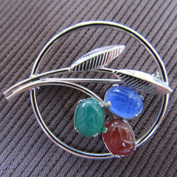 Sterling Scarab Brooch
