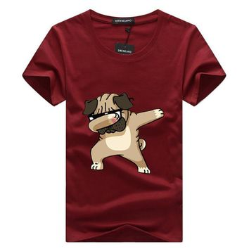SWENEARO 2018 Casual Men's t shirt men Brand T Shirt Dogs Animal cartoon Printed T Shirts Summer High Quality Hipster tee shirts