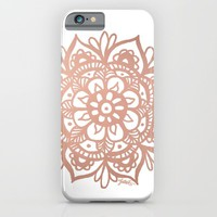 Rose Gold Mandala iPhone & iPod Case by Julie Erin Designs | Society6