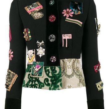 CREYONJF Dolce & Gabbana Patch Embellished Fitted Military Jacket - Farfetch