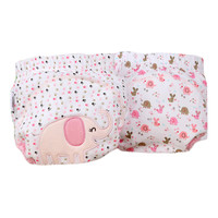 Lovely Pink Elephant Baby Elastic Cloth Diaper Cover -M, 9 - 11Kg