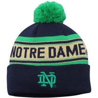 Notre Dame Fighting Irish Youth Jacquard Letter Woven Hat – Navy Blue