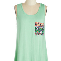 ModCloth Mid-length Sleeveless Rocky Mountain Majesty Top
