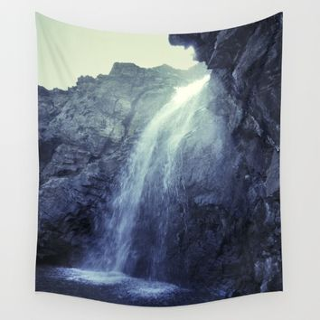 """At the mountains"" Waterfalls... Wall Tapestry by Guido Montañés"