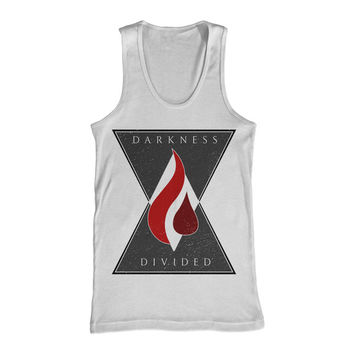 Darkness Divided: Flame (White) Tank Top (White)