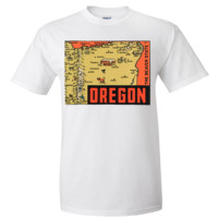 Vintage State Sticker oregon Asst Colors T-shirt/tee