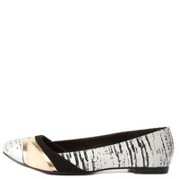 Qupid Color Block Ballet Flats by Charlotte Russe