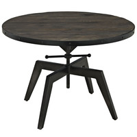 Grasp Industrial Modern Wood Top Coffee Table in Black