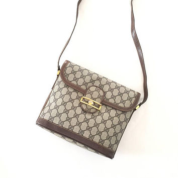 Vintage Gucci GG pattern Crossbody bag