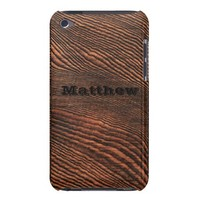 Hemlock Wood Grain iPod Touch case *Personalized* from Zazzle.com