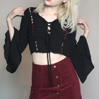 Burgundy Corduroy Button Up Skirt