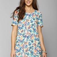 Coincidence & Chance Silky Scallop-Hem Shift Dress - Urban Outfitters