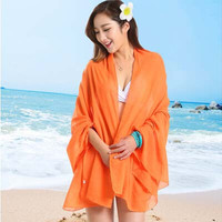 Sexy Sarong Summer Bikini Apricot Cover-up