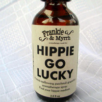 Hippie Go Lucky --- A Mind Mellowing Patchouli and Grapefruit Aromatherapy Spray/Perfume/Cologne ---  Find Your Hippie Medium