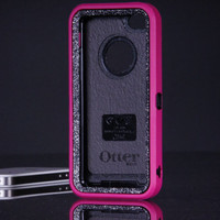 iPhone 5C Otterbox Defender Case - Pink/Smoke Glitter Otterbox iPhone 5C Case - Sparkly Glitter Bling iPhone 5C Cover