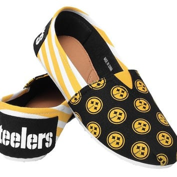 Pittsburgh Steelers Canvas Slip-On House Shoes