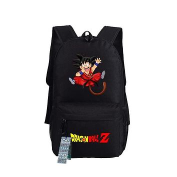 New Dragon Ball Z Backpack Anime Son Goku oxford Schoolbags Fashion Unisex Travel Bag