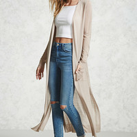 Side-Slit Duster Cardigan