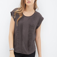 LOVE 21 Woven Pintucked Blouse