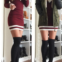 V-neckline Sweater Dress (more colors)