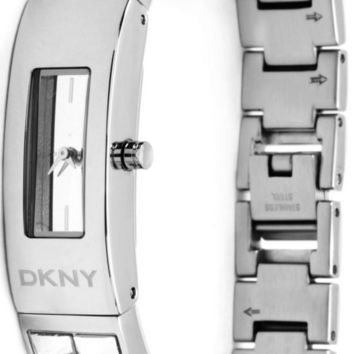 DKNY Beekman Silver Dial Crystals Steel Bangle Women's Watch NY2227