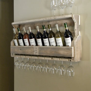 Wine Rack, Reclaimed Pallet Wood, Pallet Wine Rack, Unique Wine Rack, Rustic Decor, Repurposed Pallet, Pallet Wood Furniture, Upcycled Shelf