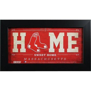 ONETOW Boston Red Sox 6x12 Home Sweet Home Sign