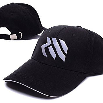 HEJIAXIN Russell Westbrook Logo Adjustable Baseball Caps Unisex Snapback Embroidery Hats - Black/White