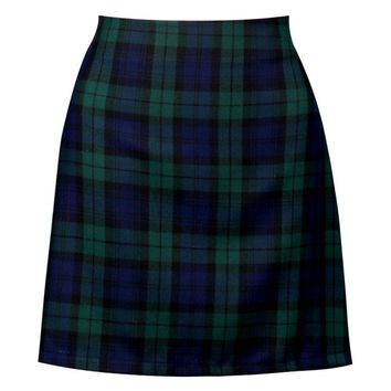 Nala Tartan Check Woven A Line Mini Skirt