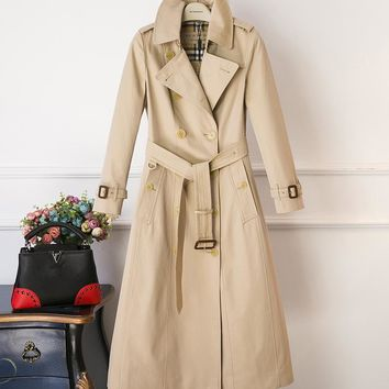 Burberry Fashion Classic women's long trench coat
