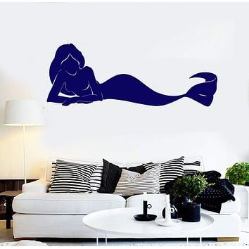 Vinyl Wall Decal Mermaid Siren Marine Decor Stickers Mural Unique Gift (ig4370)
