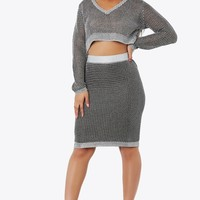 Linked Up Midi Skirt