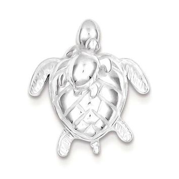 Sterling Silver Mother & Movable Baby Turtle Pendant
