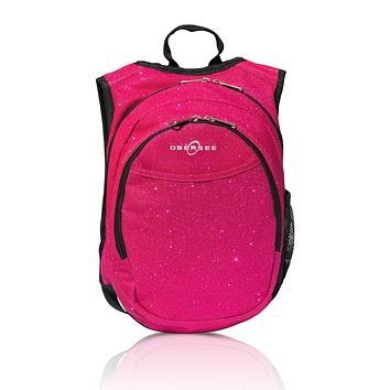 Obersee Pre-School Sparkle Backpack with Integrated Snack Cooler - Pink