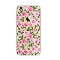Rose Pattern Petal Pink Nice iPhone 6s 6 Plus SE 5s 5 Soft Clear Case