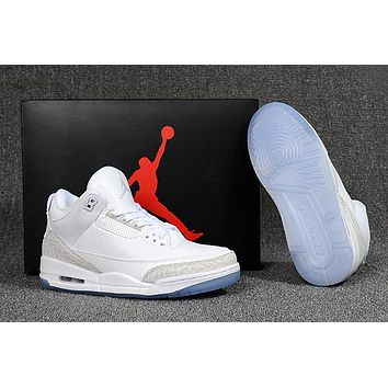 "Air Jordan 3 Retro ""Pure White"" Sneaker Shoe 40-47"