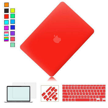 Ultra Slim Plastic See Through Hard Shell Snap On Cover for macbook air 13 case 11 12 Pro 13.3 15.4 Retina laptop sleeve 15.6