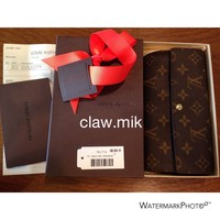 AUTHENTIC Louis Vuitton Monogram Sarah Wallet - Dust Bag - Box - Receipt - EUC