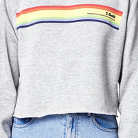 John Galt Pacific City Cropped Crew Neck Sweatshirt at PacSun.com