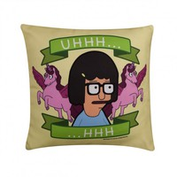 Bob's Burgers Tina Ugh… Throw Pillow