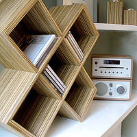 cube cd rack by red lilly | notonthehighstreet.com