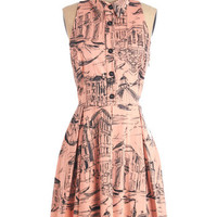 ModCloth Vintage Inspired Long Sleeveless A-line Ciao About That! Dress