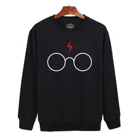 Harry potter glasses Sweater sweatshirt unisex adults size S-2XL